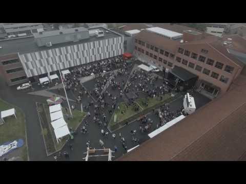 Mysen VGS SkoleStart Festivalen tatt ovenifra