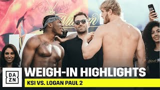 HIGHLIGHTS | KSI vs. Logan Paul 2 Weigh-In