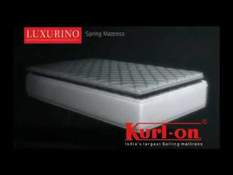 Kurlon Luxurino pocket spring mattresses with memory foam