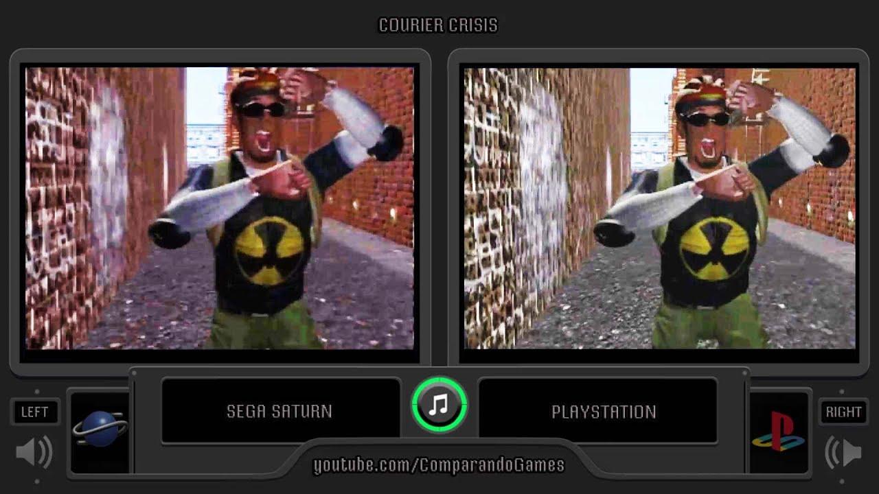 Courier Crisis Sega Saturn Vs Playstation Side By Side