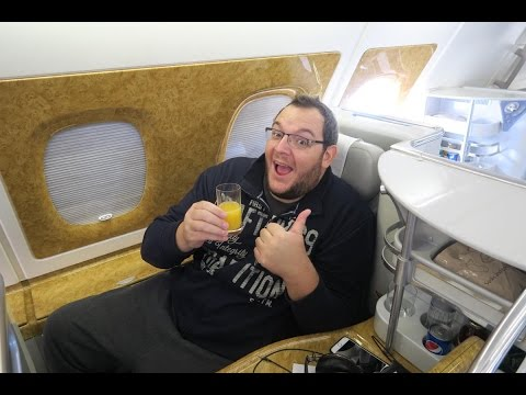 Airbus A380 Emirates Business Class | DUS-DXB