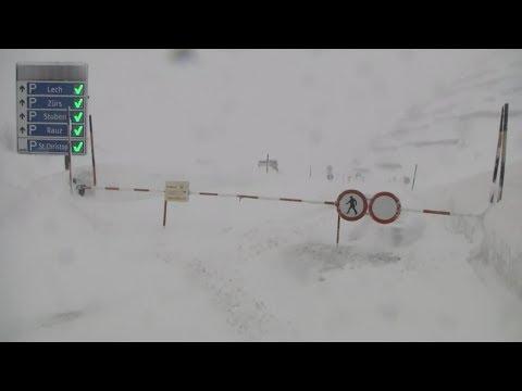 Extreme weather 2019 - Record snow and more (Austria, Alps, Algeria) - BBC News - 13th January 2019