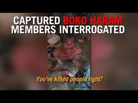Boko Haram Suspects Captured And Interrogated By Authorities