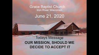 Grace Baptist Church Iron River Wi June 21 2020