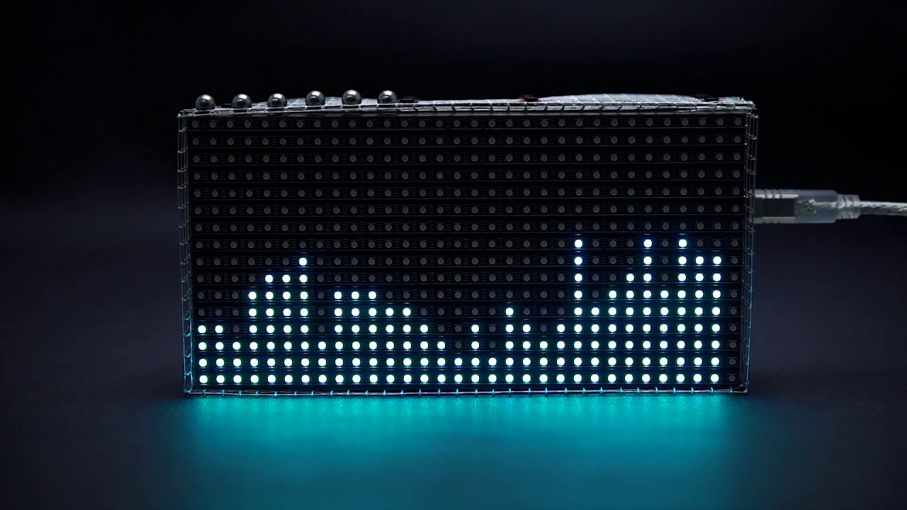 Bluetooth Music Visualization Box with Arduino 32x16 RGB LED Matrix Panel  (Project Demo)
