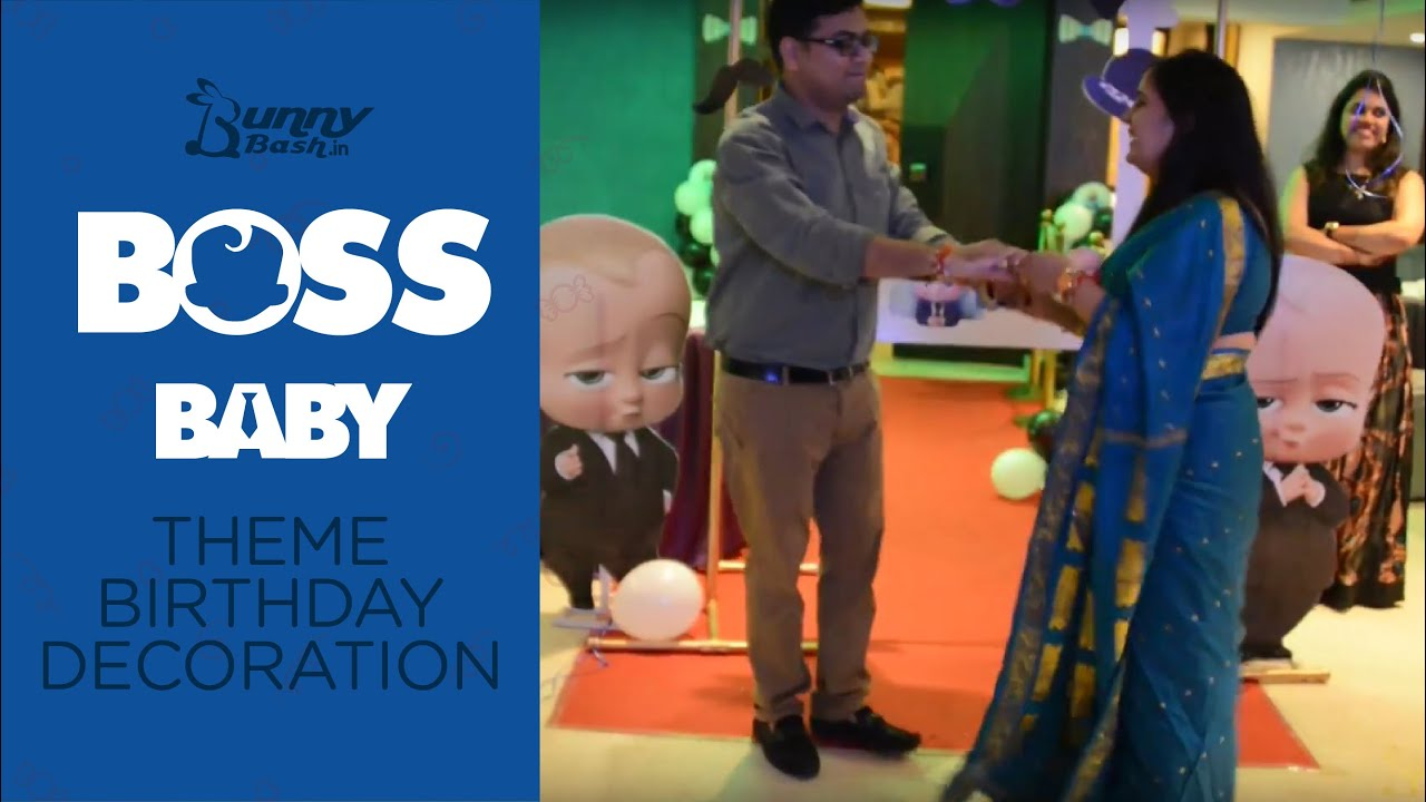 Theme Party Setup As The Boss Baby Birthday Party Theme