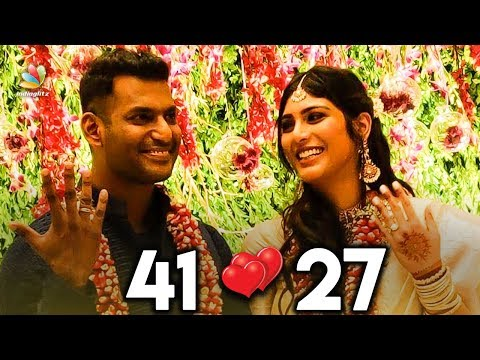 41 year old Vishal Marries 27 year old Anisha Reddy | Hot Cinema News | Celebrity Wedding