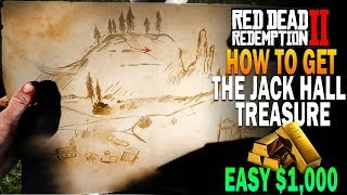How To Find The Jack Hall Tresure! Easy $1,000! Red Dead Redemption 2 Easy Money [RDR2]