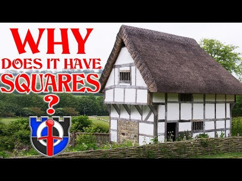 Why are medieval buildings made of white rectangles?