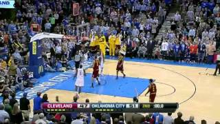 nba cleveland cavaliers vs oklahoma city thunder highlights mar 9 2012 game recap