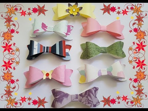 Making cute paper Bow tie for explosion box/cards/scrapbooking.