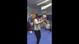Very funny video - virtual reality reaction - zombie apocalypse