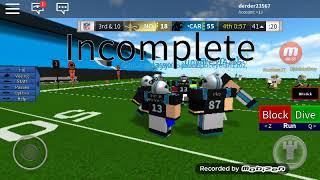 Playing roblox lg ftball