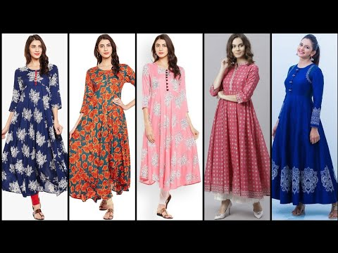 Latest Beautiful And Outstanding Unique Style High Waist Flare Kurti Design 2019 /Fashion Diaries