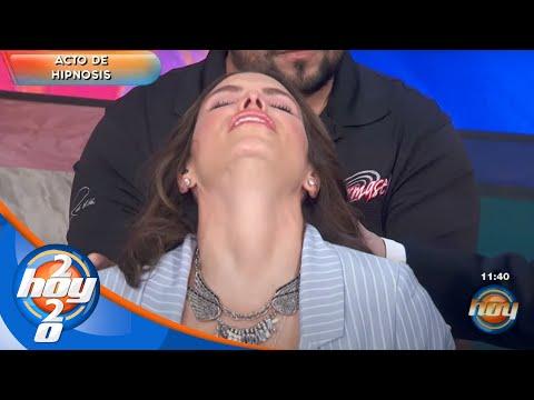 ¡Andrea Escalona rompe en llanto en pleno acto de hipnosis! | Hoy