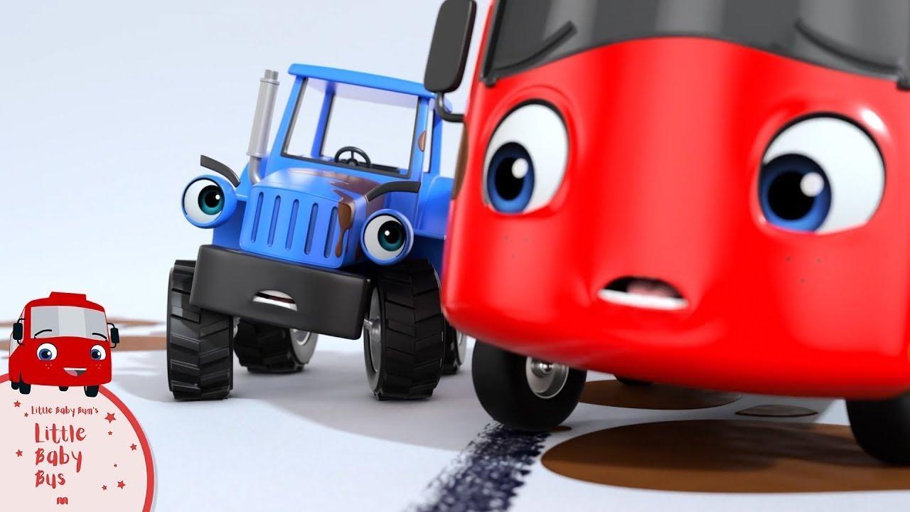 Buster is Stuck in the Mud!   हिंदी कहानियां और बच्चों के गाने   Little Baby Bus   बच्चे गाने
