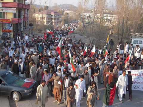 JKLF Historical Long March on 5th November 2009 (Kashmir)