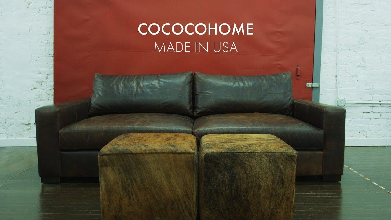 Monroe Deep Leather Sofa | COCOCOHOME, Furniture Manufacturer | Made in USA