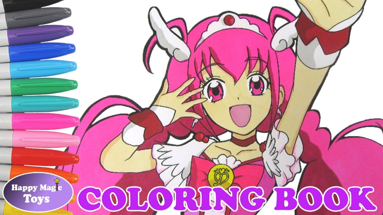 Glitter Force Glitter Lucky Coloring Smile Precure Cure Happy