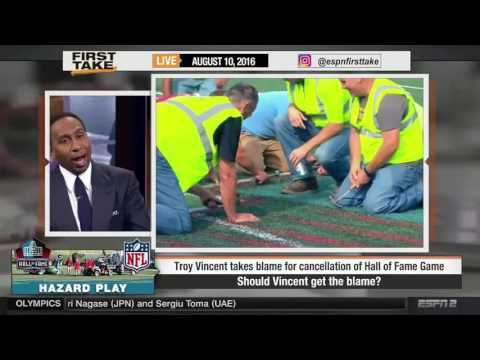 ESPN First Take   Should Troy Vincent Get the Blame Of HOF Game