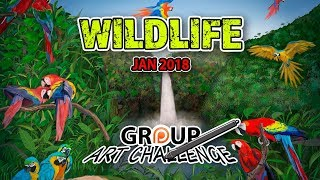 January 2018 Group Art Challenge Submissions - #AArtChallenge