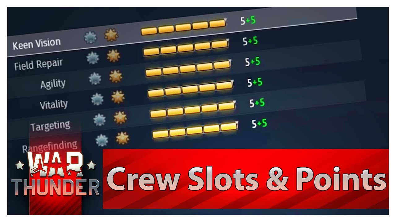 How to Use Crew Slots & Crew XP Points in War Thunder, pota2knowledge