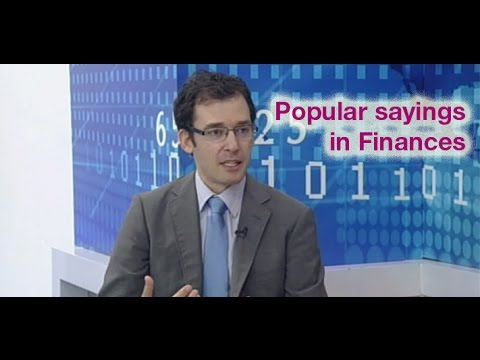 Maltese sayings in the Financial World