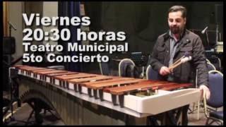 Solista en marimba Marcelo Stuardo invita al 5to Concierto