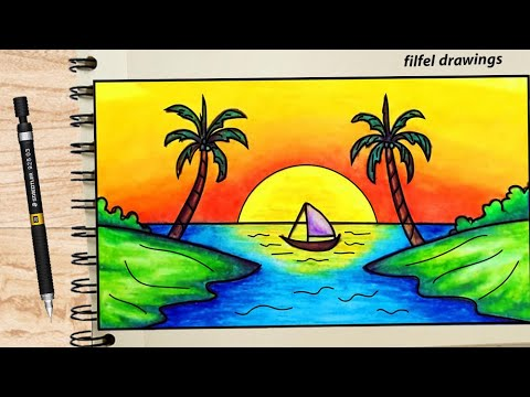 Easy Drawing Pencil Drawing Scenery Drawing Simple Drawing Of Nature Drawings For Beginners Youtube