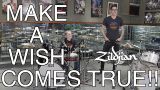 DRUMMER'S MAKE-A-WISH COMES TRUE - ZILDJIAN STYLE!