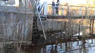 Полоцк Подтоплен мост к Софии 2013