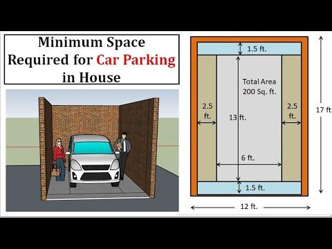Minimum Space For Car Parking    कार पार्किंग के लिए कितनी जगह चाहिए     Car Parking Area