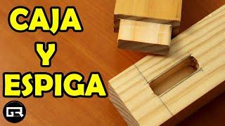 ENSAMBLE DE CAJA Y ESPIGA CON FRESADORA. Fácil | Assemble mortise and tenon with a router. Easy