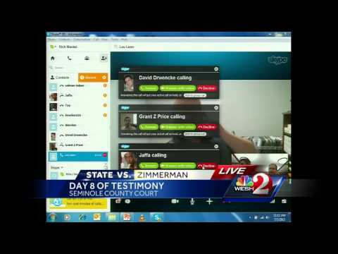 Full video: Zimmerman witness bombarded with Skype calls during testimony
