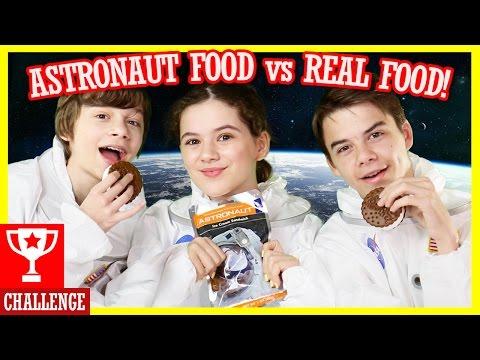 ASTRONAUT FOOD vs. REAL FOOD CHALLENGE!!! Outer Space Taste Test! |  KITTIESMAMA