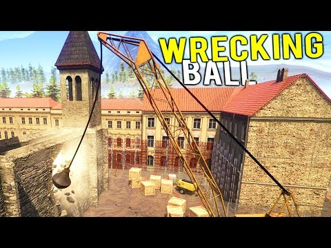 USING A GIANT WRECKING BALL TO DESTROY AN ENTIRE BUILDING! - Demolish and Build 2018