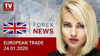 InstaForex tv news: 24.01.2020: Euro continues its depreciation. Outlook for EUR/USD and GBP/USD