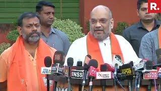 Seer Swami Paripoornananda Joins BJP Ahead Of Telangana Polls