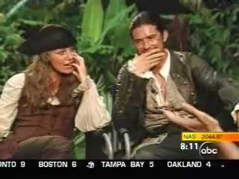 Keira Knightley, Orlando Bloom: Pirates of the Caribbean Dead Man's Chest interview