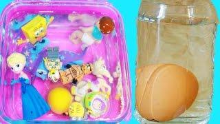 TOYS CHALLENGE Floating Eggs Salt Water - Frozen MLP TMNT Leog Baby - Kids Fun Science Experiment