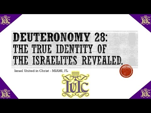 The Israelites: Deuteronomy 28 Gets Revealed To The Christian Church In Detail!!