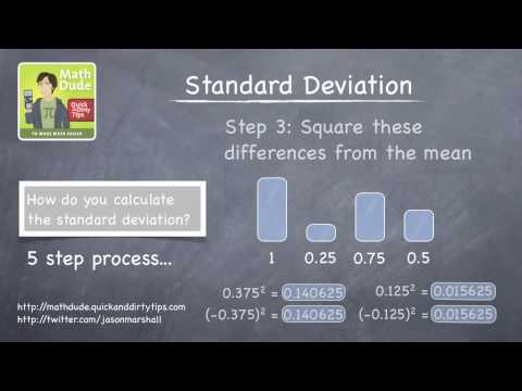 Math Dude 026 • Video Extra! • How to Calculate Standard Deviations