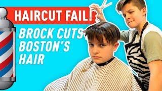 Haircut FAIL! Brock Cuts Boston's Hair! | Brock and Boston