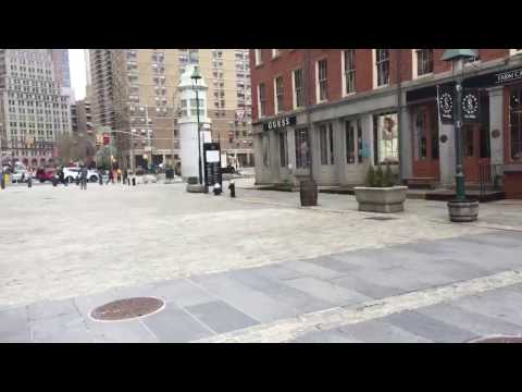 Perfect Narration In Loud/Windy South Street Seaport NYC Wearing Hooke Verse