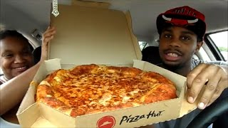 Pizza Hut New Grilled Cheese Stuffed Crust Pizza Review With Girlfriend