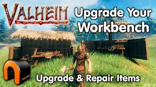Valheim How To Upgrade The Workbench Valheim Youtube