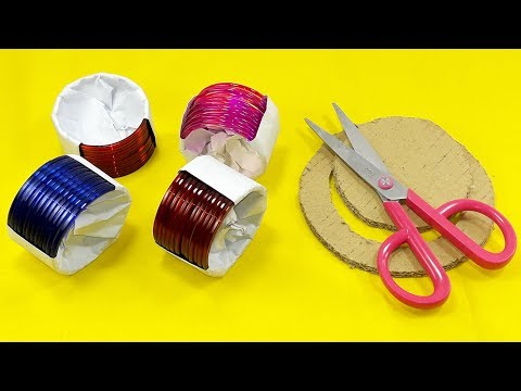 DIY cardboard & Old bangles reuse idea | DIY art and craft | DIY HOME DECO