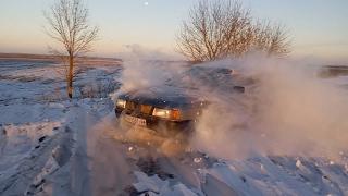 AUDI 80 по снегу