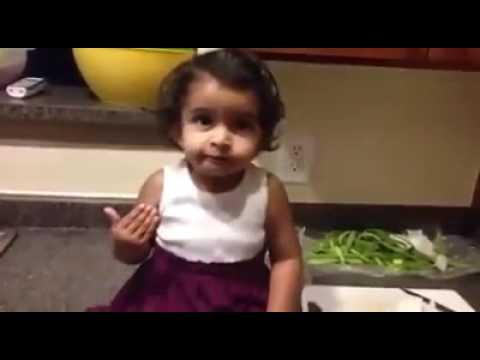 CUTE LITTLE GIRL speaking telugu