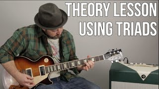 Video Theory Guitar Lesson Using Triads download MP3, 3GP, MP4, WEBM, AVI, FLV Juli 2018